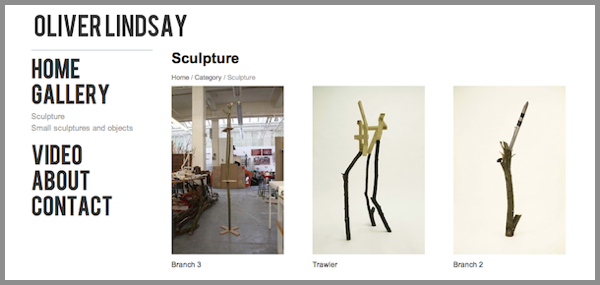 New Featured Artist Website Oliver Lindsay Sculpture