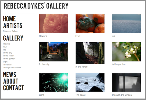 Featured Photographers Website: Rebecca Dykes